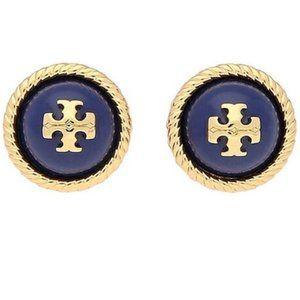 tory burch navy earrings
